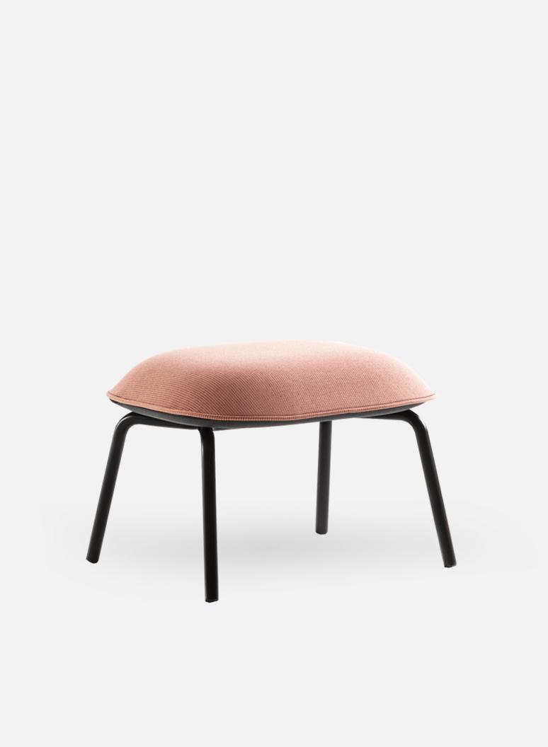 Tasca Lounge Ottoman | Gabriel Pink Salmon Fabric