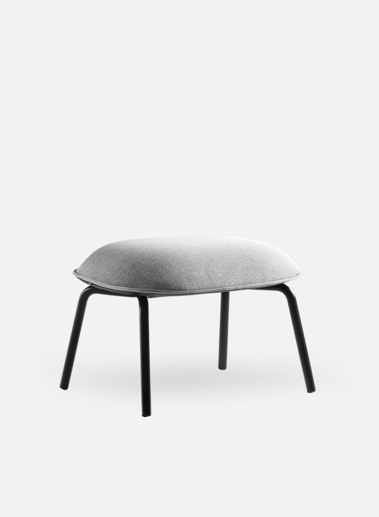 Tasca Lounge Ottoman | Gabriel Gray Fabric