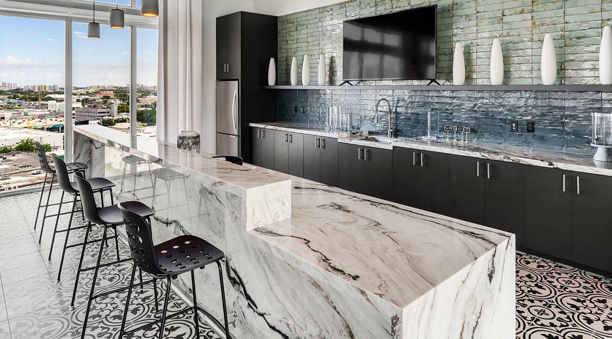 Holi barstool by TOOU Miami Home Residential Project