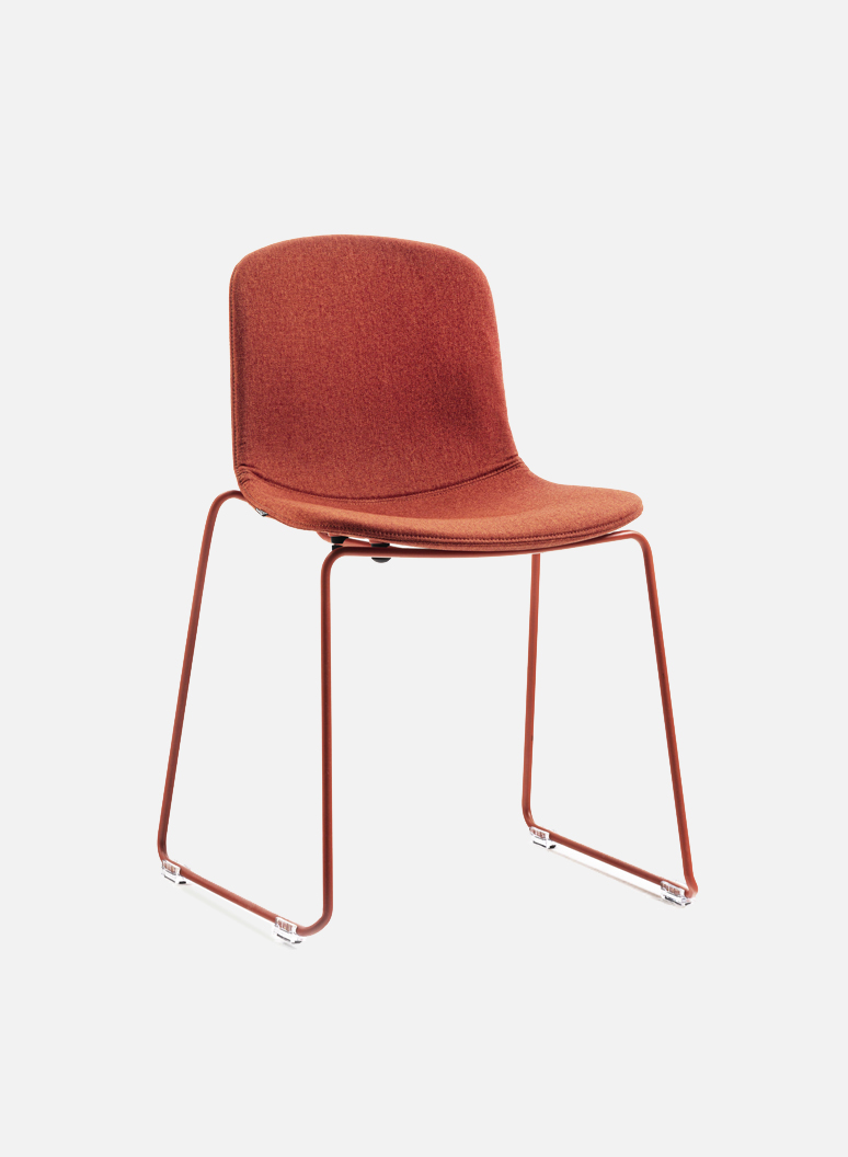 Holi Chair by TOOU | Holi sledge side chair Easy Up Red terracotta