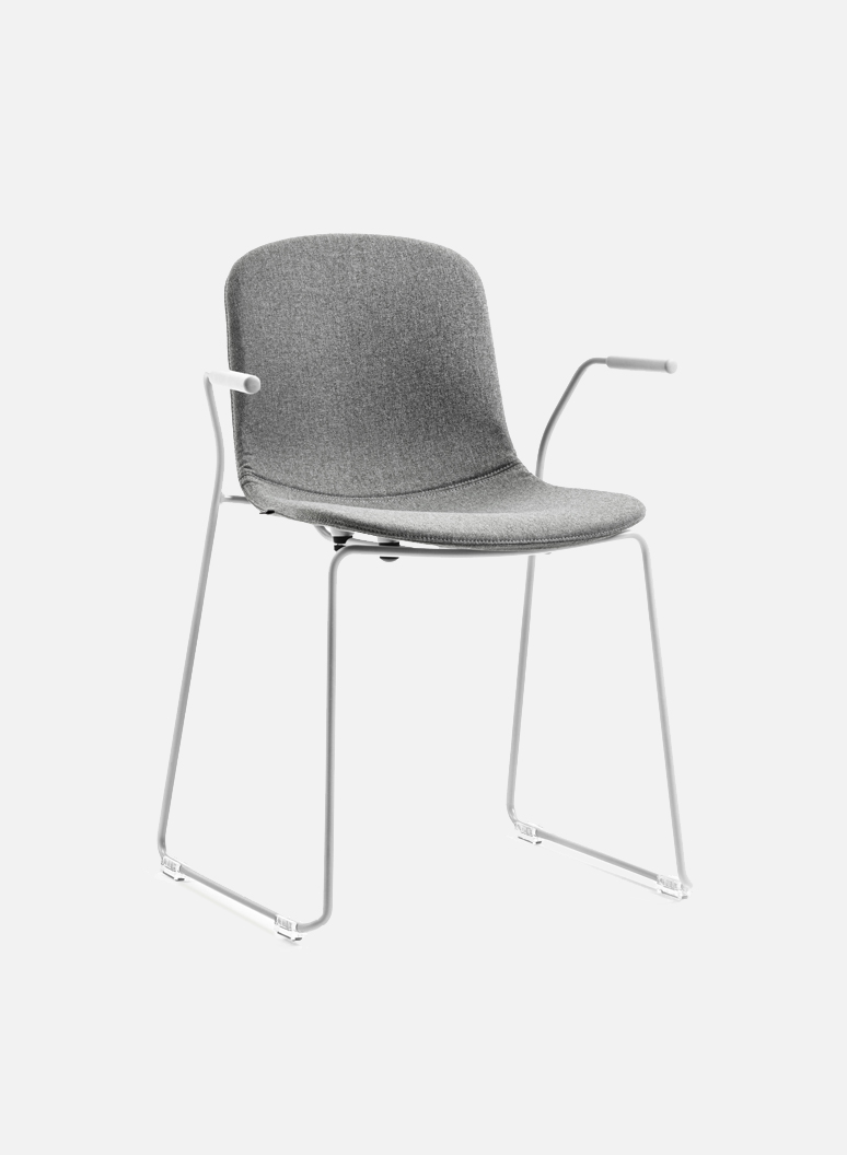 Holi Chair by TOOU | Holi sledge armchair Easy Up White - Light gray