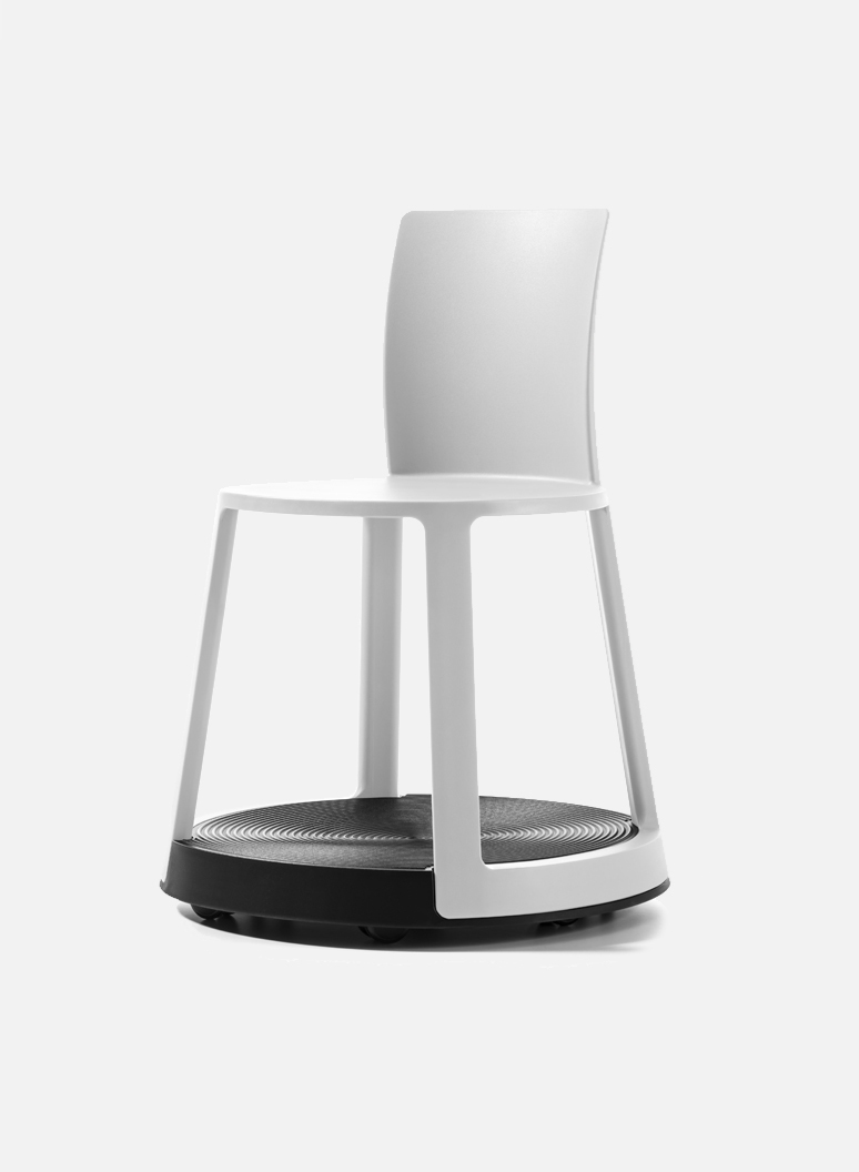 Revo Eco White - An original smart chair for office, smart office, laboratory.
