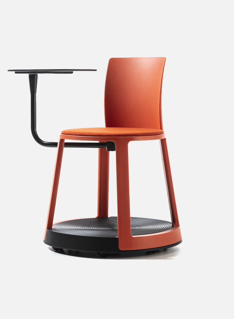 Revo Eco Red Terracotta - An original smart chair for office, smart office, laboratory.