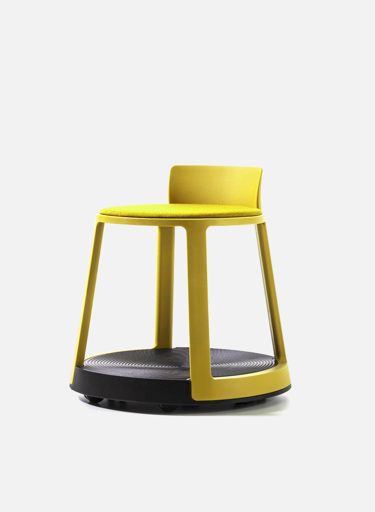 Revo Eco Mustard - An original smart chair for office, smart office, laboratory.
